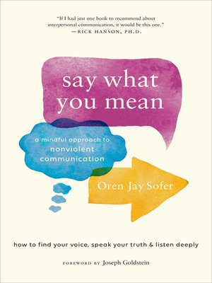 cover image of Say What You Mean