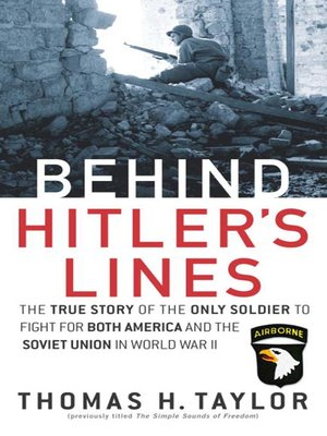 cover image of Behind Hitler's Lines