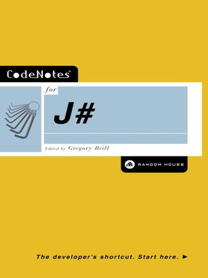 cover image of CodeNotes® for J#