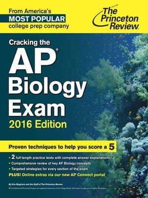 Cracking The AP Biology Exam 2016 Edition By Princeton