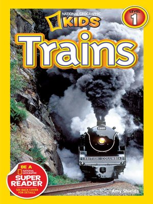 cover image of National Geographic Readers: Trains