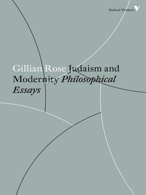 cover image of Judaism and Modernity
