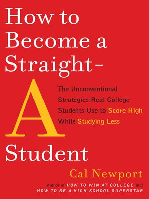 cover image of How to Become a Straight-A Student