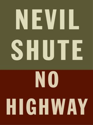 cover image of No Highway