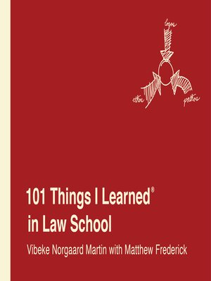 cover image of 101 Things I Learned® in Law School