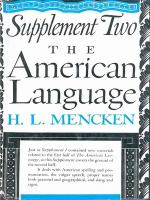 cover image of American Language Supplement 2