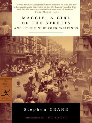 cover image of Maggie, a Girl of the Streets and Other New York Writings