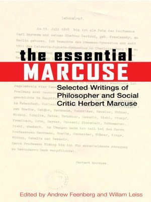 Herbert marcuse overdrive rakuten overdrive ebooks audiobooks cover image of the essential marcuse fandeluxe Gallery