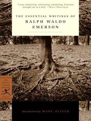 cover image of The Essential Writings of Ralph Waldo Emerson
