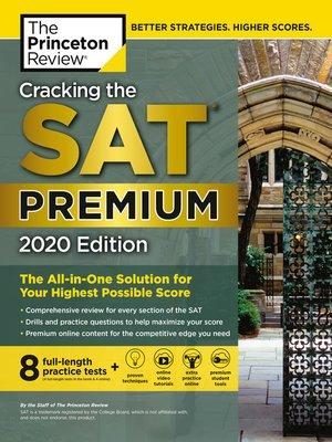 cover image of Cracking the SAT Premium Edition with 8 Practice Tests, 2020