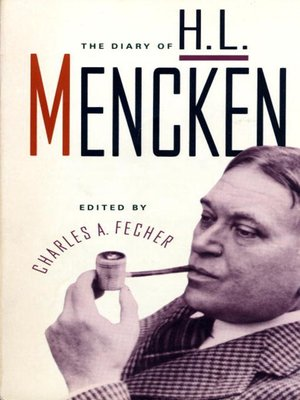 cover image of Diary of H. L. Mencken