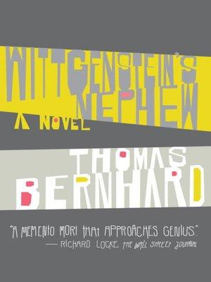 Thomas bernhard overdrive rakuten overdrive ebooks wittgensteins nephew fandeluxe Gallery
