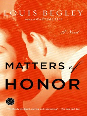 cover image of Matters of Honor
