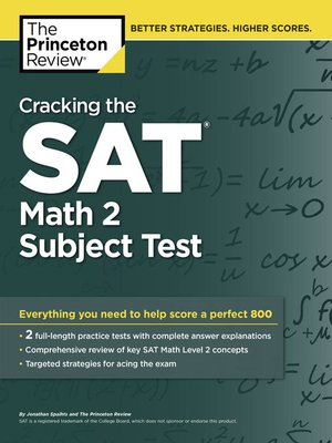 cover image of Cracking the SAT Math 2 Subject Test