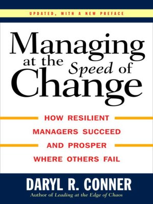 cover image of Managing at the Speed of Change