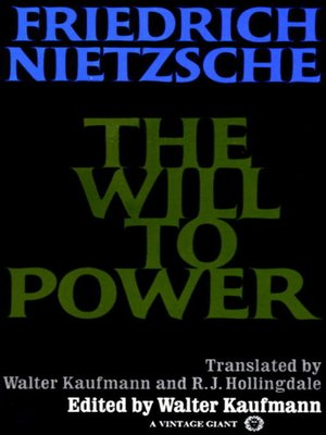 cover image of The Will to Power