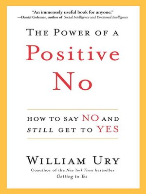 cover image of The Power of a Positive No