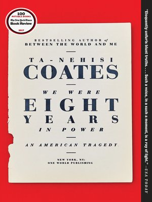 cover image of We Were Eight Years in Power