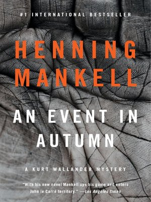 cover image of An Event in Autumn