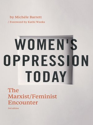 cover image of Women's Oppression Today