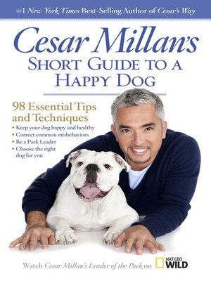 cover image of Cesar Millan's Short Guide to a Happy Dog