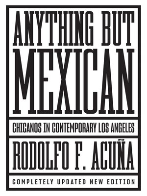 cover image of Anything But Mexican