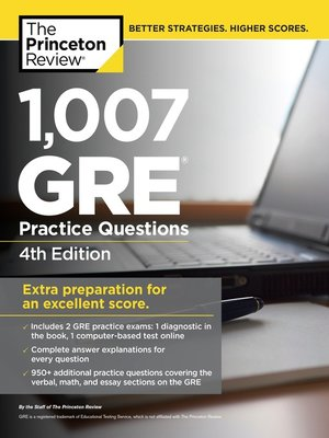cover image of 1,007 GRE Practice Questions