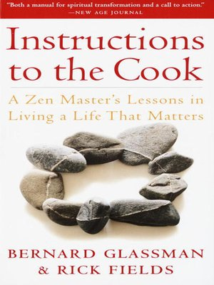 cover image of Instructions to the Cook