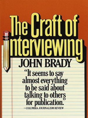 cover image of The Craft of Interviewing