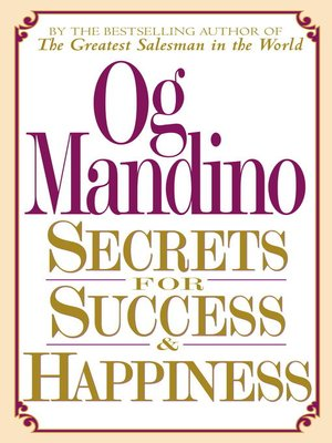 cover image of Secrets for Success and Happiness