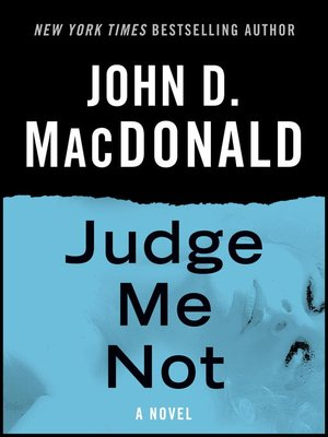 cover image of Judge Me Not