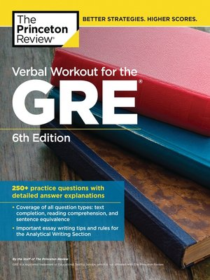 cover image of Verbal Workout for the GRE