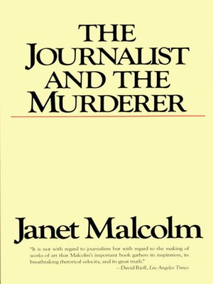 cover image of The Journalist and the Murderer