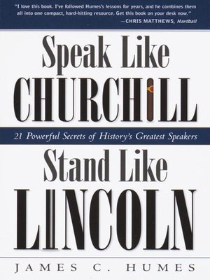 cover image of Speak Like Churchill, Stand Like Lincoln