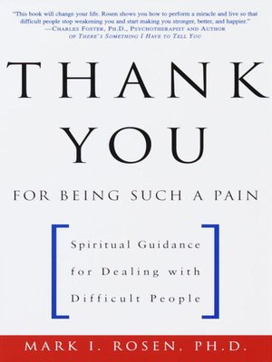 cover image of Thank You for Being Such a Pain
