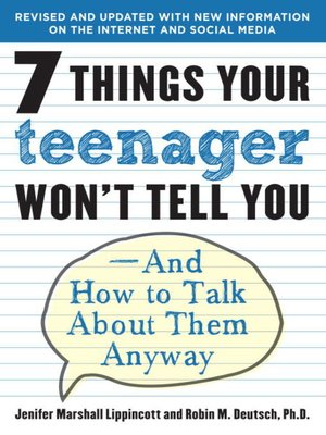cover image of 7 Things Your Teenager Won't Tell You