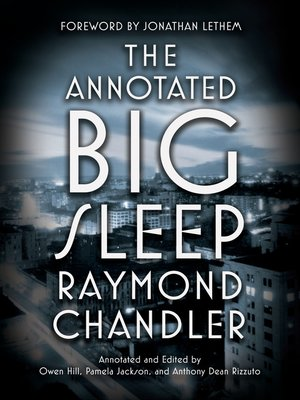 cover image of The Annotated Big Sleep
