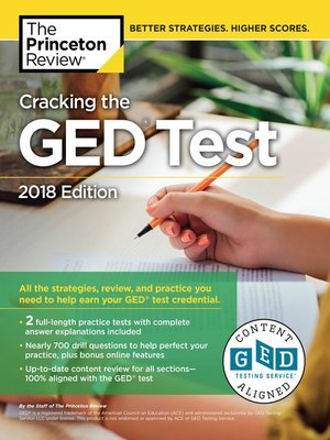 cover image of Cracking the GED Test with 2 Practice Exams, 2018 Edition