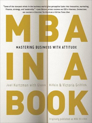 cover image of MBA in a Book