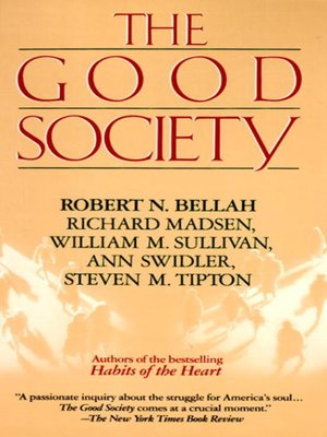 cover image of The Good Society
