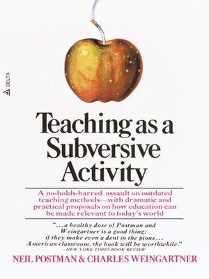 cover image of Teaching As a Subversive Activity