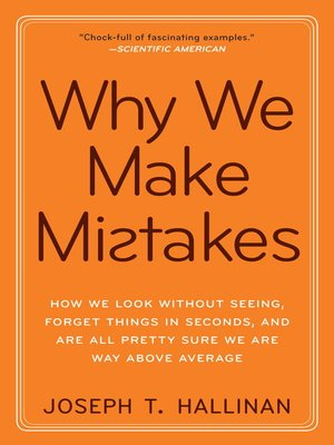 cover image of Why We Make Mistakes