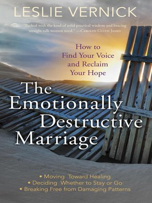 cover image of The Emotionally Destructive Marriage
