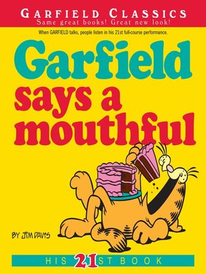 cover image of Garfield Says a Mouthful