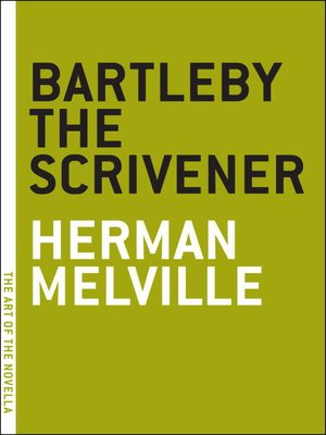 cover image of Bartleby the Scrivener