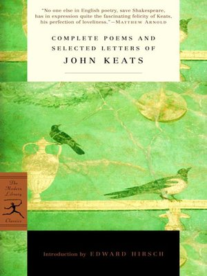 cover image of Complete Poems and Selected Letters of John Keats