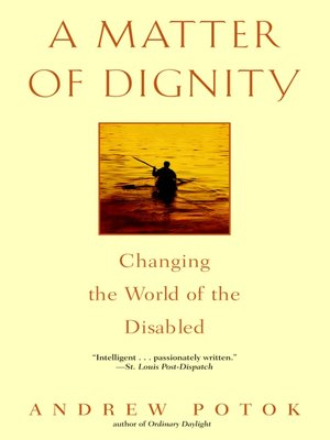cover image of A Matter of Dignity