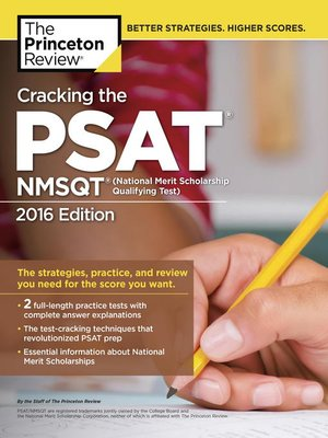 cracking the psat nmsqt with 2 practice tests 2016 edition by