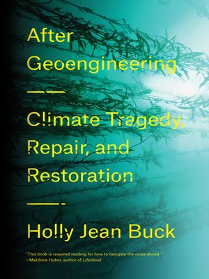 cover image of After Geoengineering