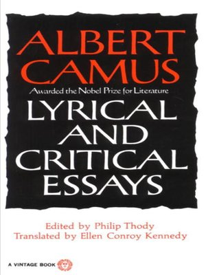 cover image of Lyrical and Critical Essays